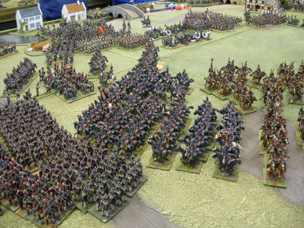 Guard Heavies in Echelon by Squadron