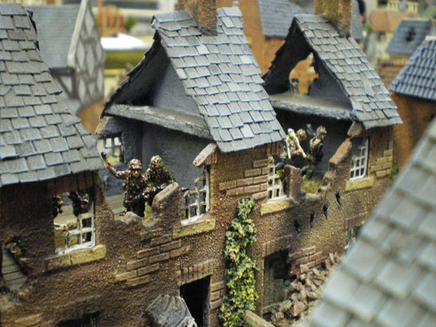 SS Panzer Grenadiers defending a house in Arnhem