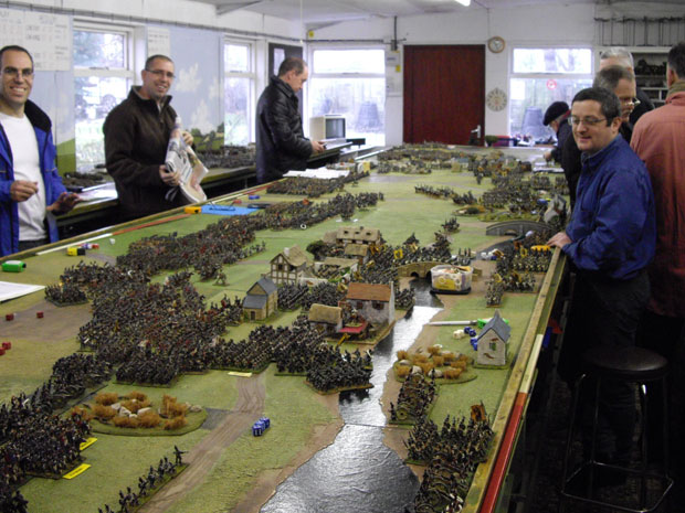 Players prepare to start the Battle of Wagram...