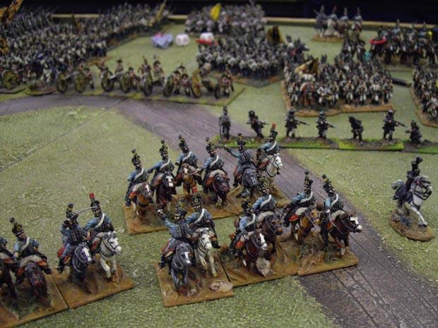 The Austrians start their advance...