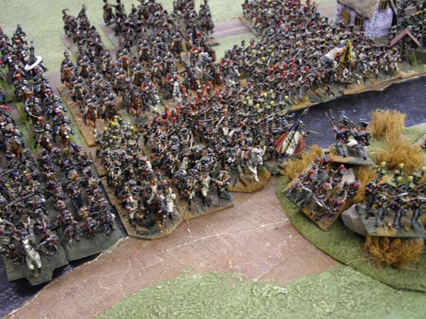 Davouts' veterans cross the Russbach in the wake of the retreating Austrians...