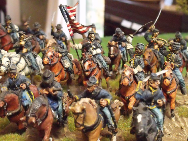 Union Cavalry charging.