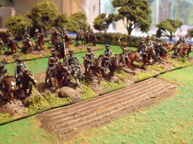 First Virginia lined out and ready for the charge.