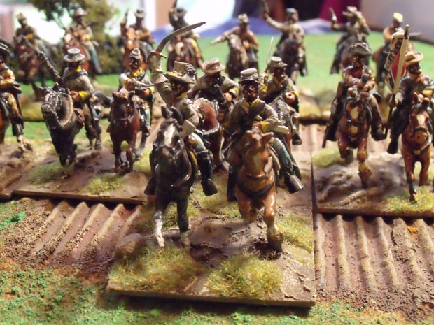 Confederate charge, with supporting regiment.
