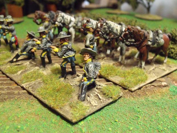 Texas Cavalry dismounted