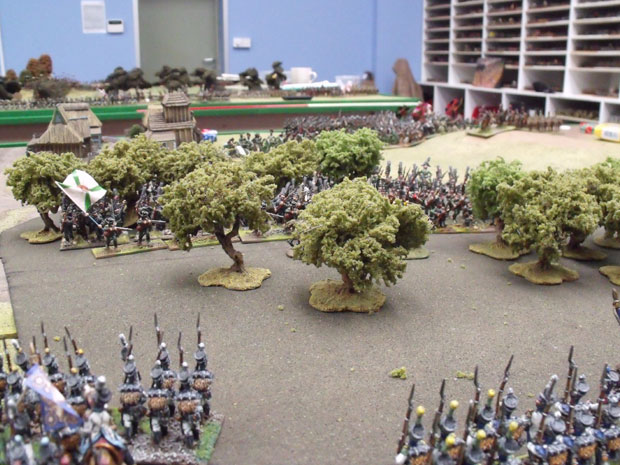 Westphailians at the beginning of the battle