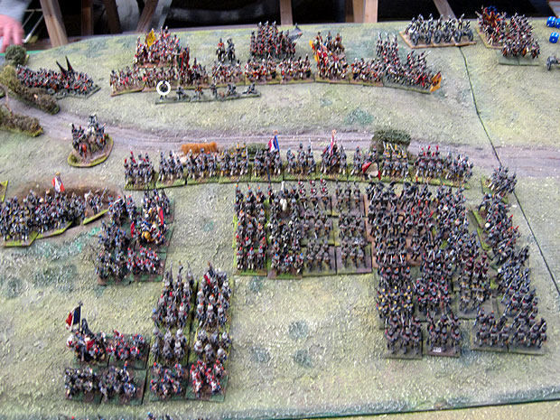 French infantry firefight the British