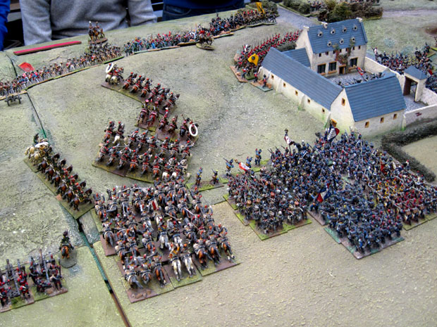 French Cuirassier charge the remaining Dutch Belgium troops behind La Haye Sainte