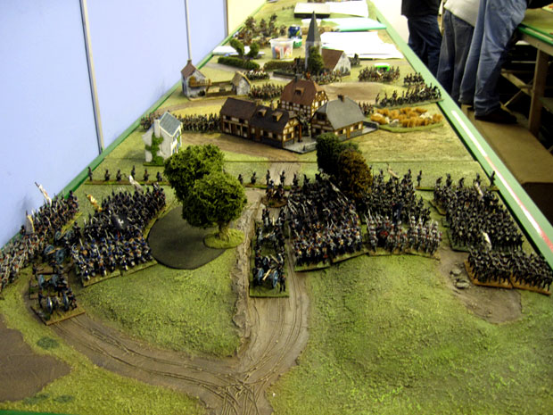 The Prussians advance on Plancenoit