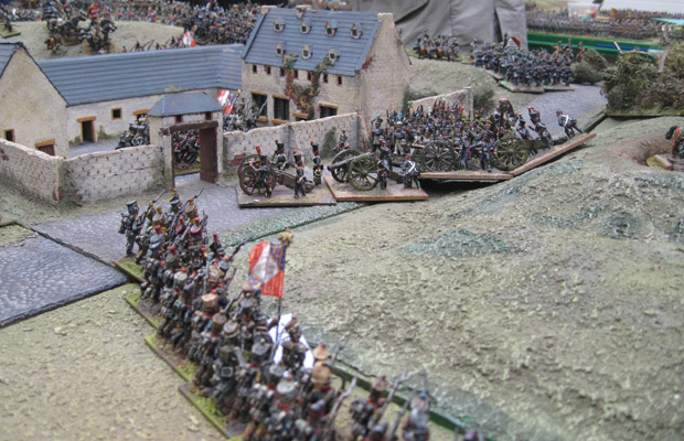 French troops advancing near La Haye Sainte