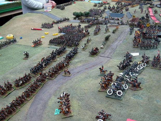 Guard cavalry crash into the guns on the ridge
