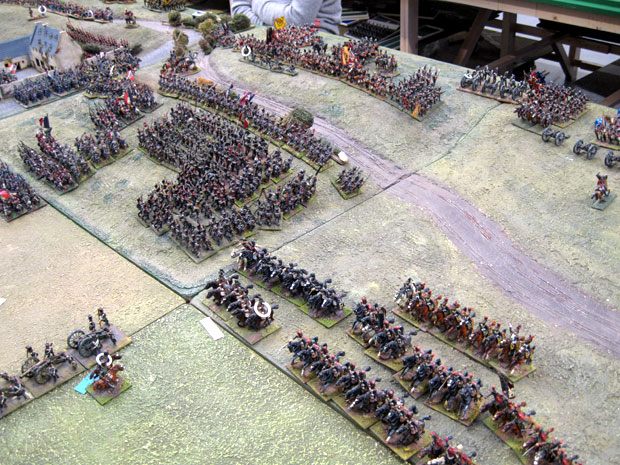 French infantry form line on the ridge