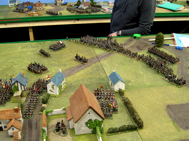 Prussian reinforcements arrive near Papelotte