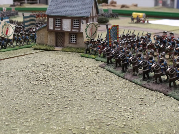 Bavarian foot advancing in line.