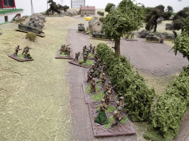 British Infantry in cover.