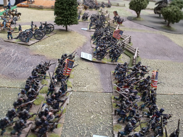 The Union advance