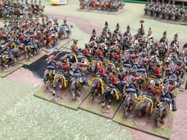 Russian Hussars and French Dragoons