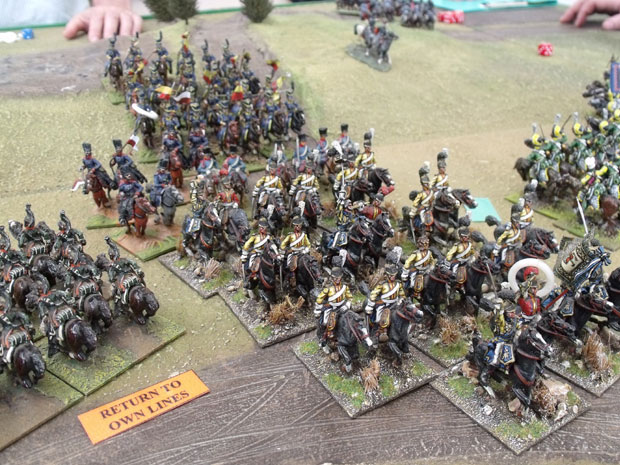 Saxon Garde du Corps plunging  back into their own lines