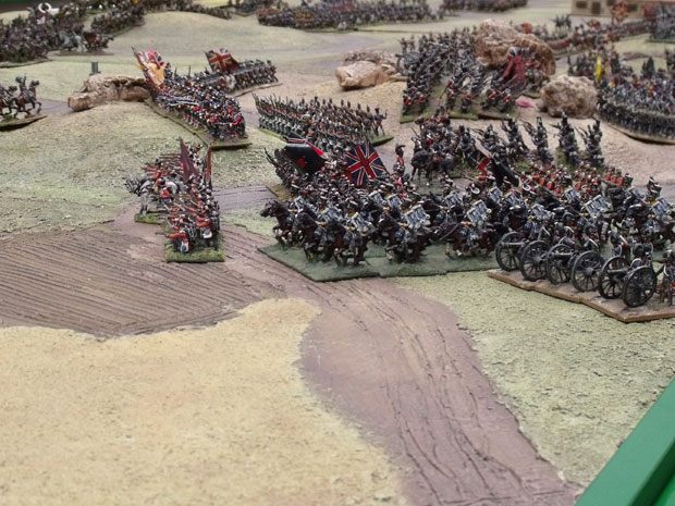 Kings German Legion Move out to engage the French Cavalry