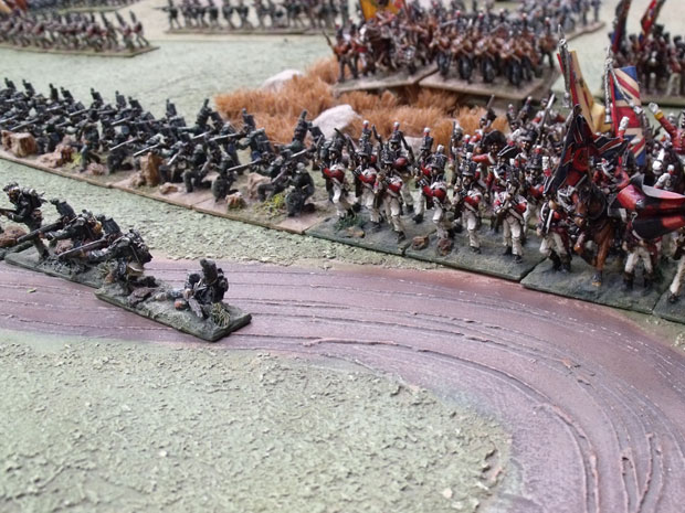 British line with Rifle skirmishers