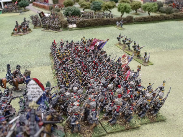 A view of the Massed French attack.