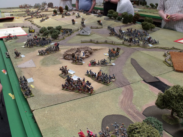 View of the battlefield Saturday