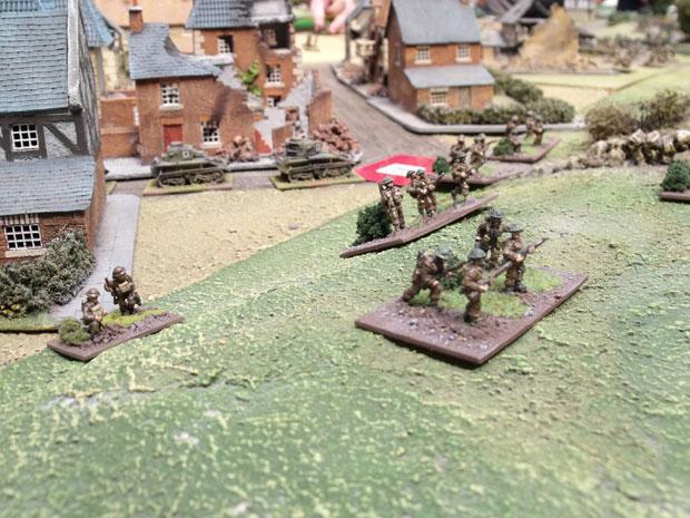 British infantry advance