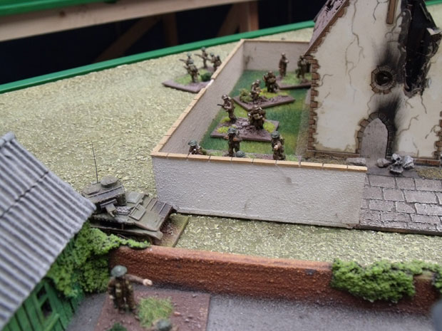 The first sight of British Infantry