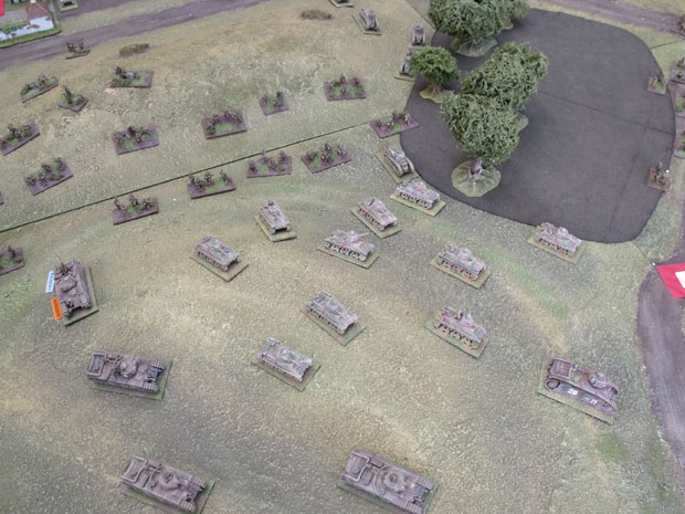Aerial view of the French advance