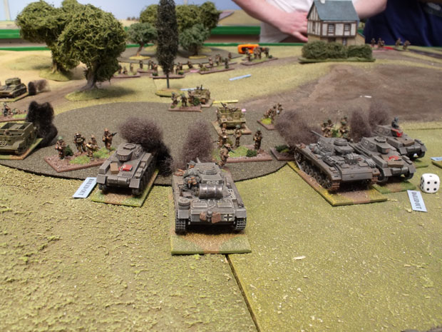 Panzers bailed out.