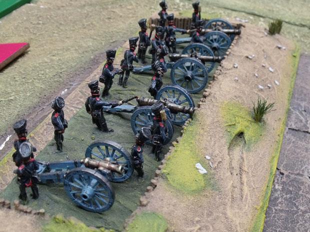 12 Pound guns in redoubt on Krekowitz heights