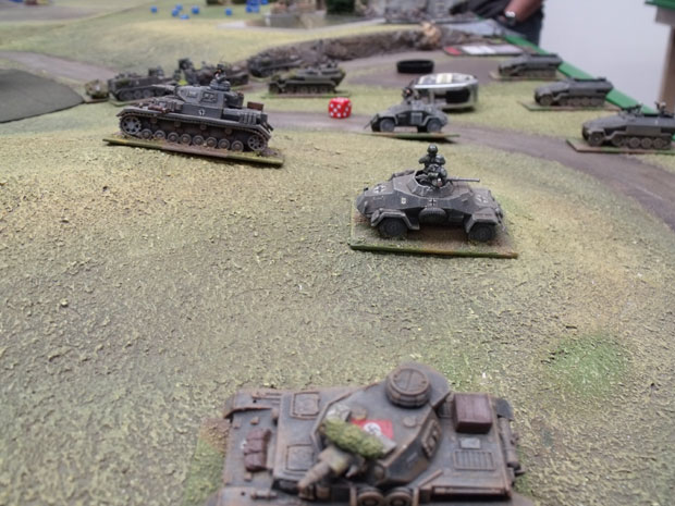 German armour moving west.
