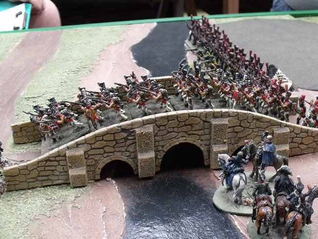 Neuchatel Battalion Crossing the Bridge