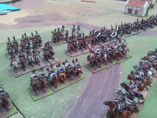 Bavarian Chevau leger and French Hussars