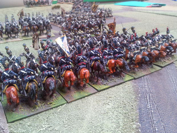 French and Allied Cuirassier melee Austrian counterparts