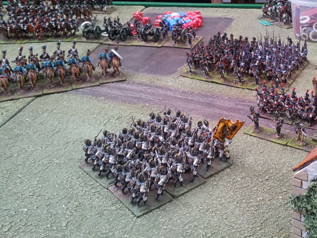The Middle guard look to defend the western boundary of Aspern.