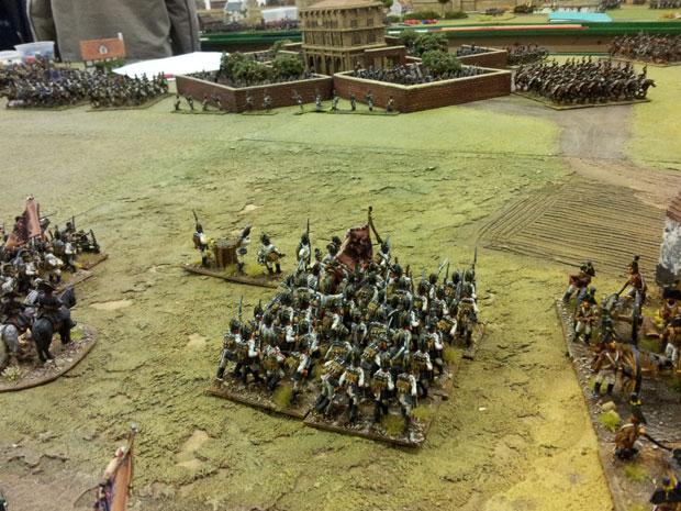 The Battalions of Colloredo advance.