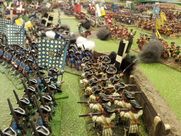 Troops in the French Centre attempt to halt the forces of Orkney