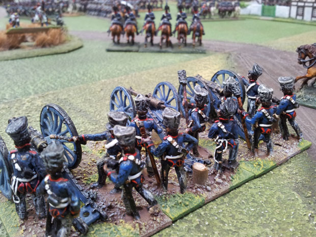 The Prussians hurl ball into the Guard!