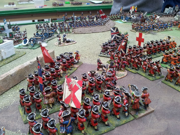 The troops from Lottum's force engage in fore-fights with the garrison of Blairon.