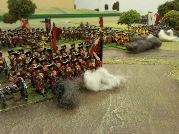 Troops from Orkney's command advance toward Boufflers men.