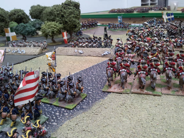 Hessians support the attack North of Lainieres Wood.