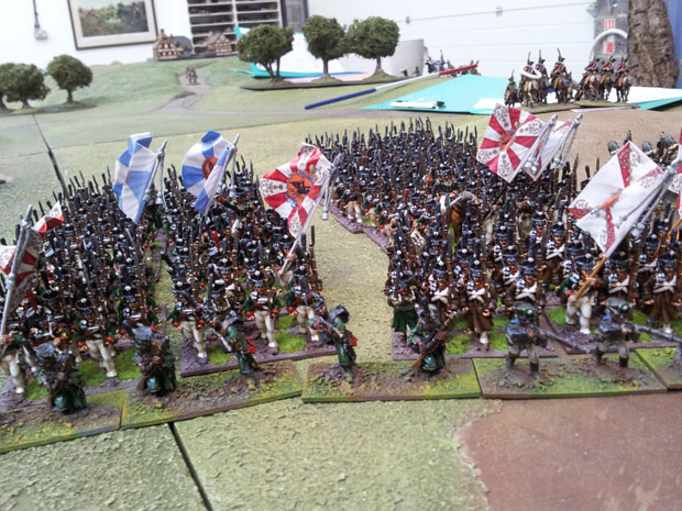 Guardsmen fro the Ismailovski and Preobrajenski regiments