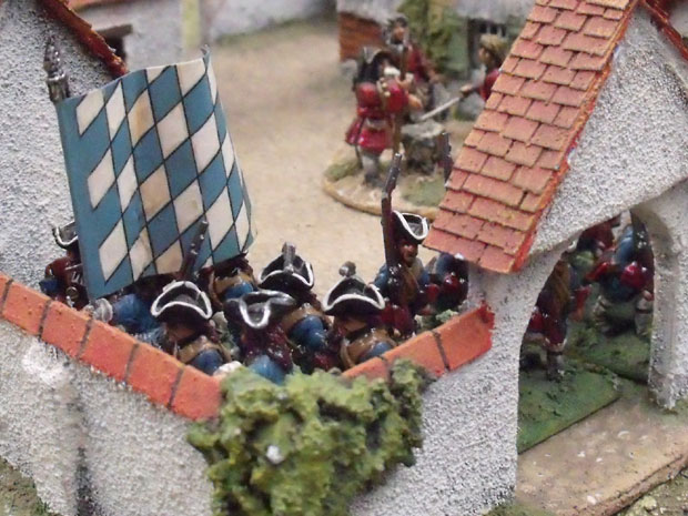 Leib Battalions in one of the Villages.
