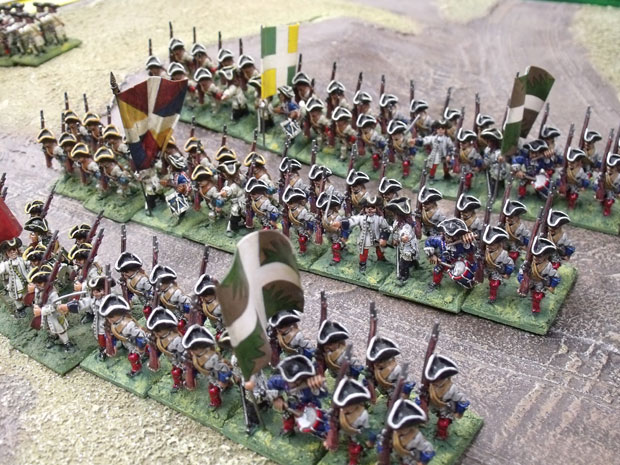 French Infantry with their supporting battalions.