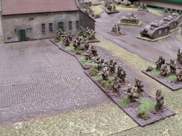 French infantry advancing.