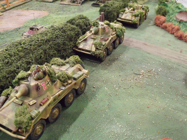 Puma Armoured Cars of the SS Recon.