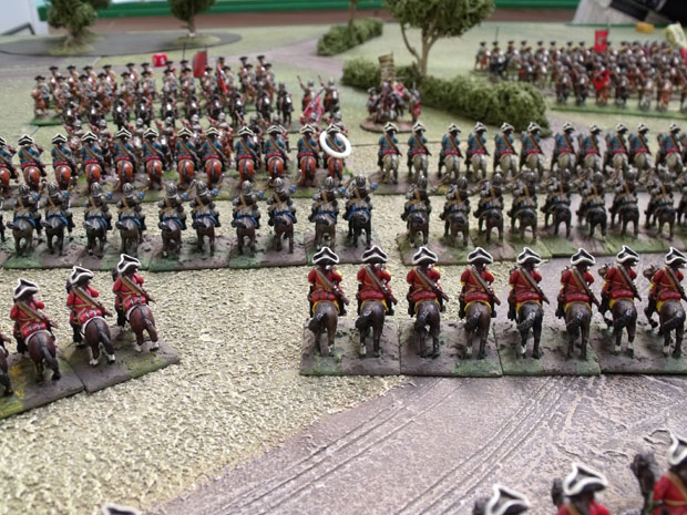 Bavarian Cavalry move to engage