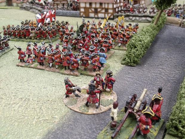 The British deploy at Blenheim