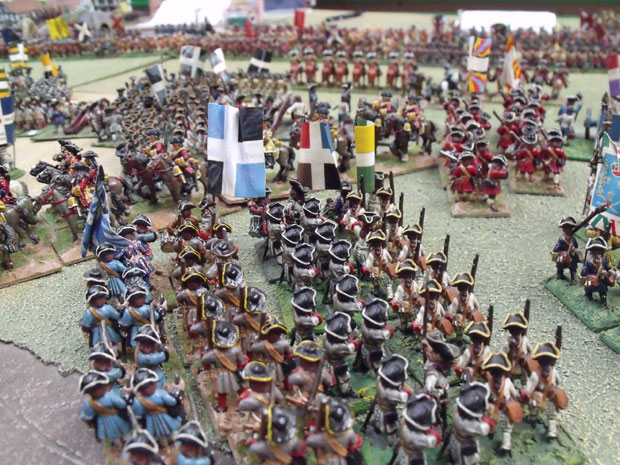 The French manoeuvre to keep the line.